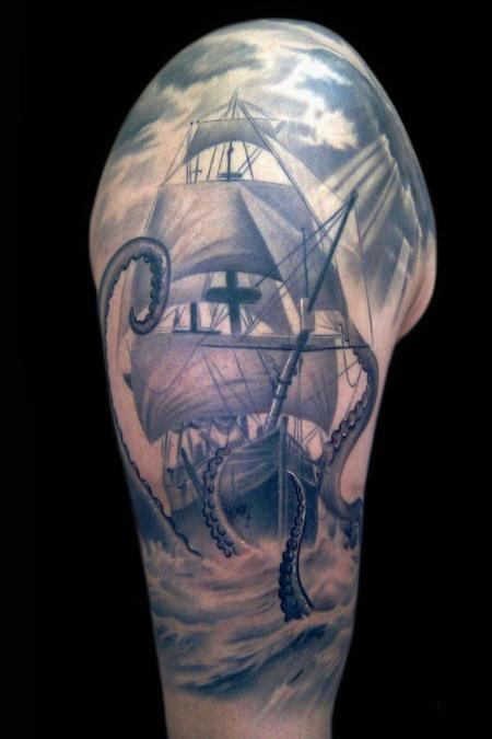Ship Sleeve Tattoo