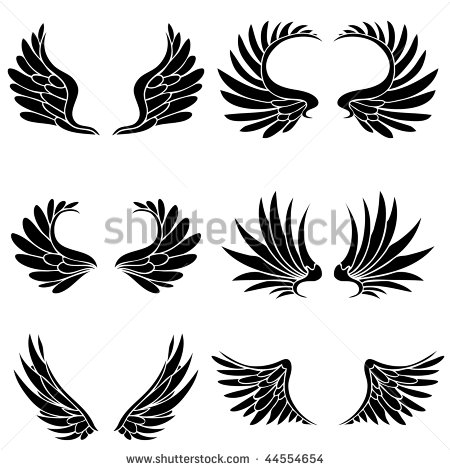 Tribal Fairy Wing Tattoo Designs Simple