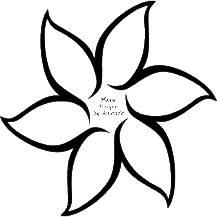 Single Tulip Flower Tattoo Design On White Page