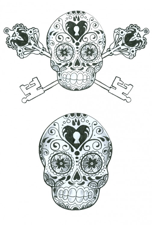 Skeleton And Roses Sleeve Tattoos For Women