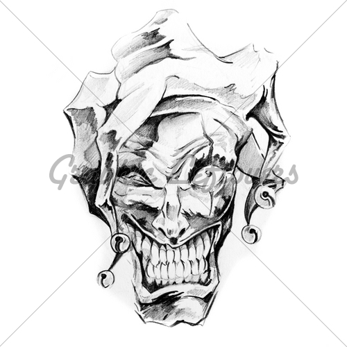 Skull Clown Tattoo Picture