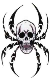 Skull Coffin Tattoo Sample