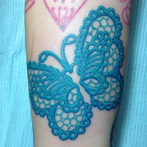 Skyblue Butterfly Tattoo