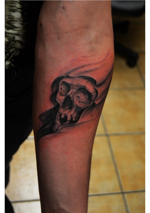 Small Grim Reaper Tattoo On Ankle