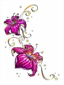 Small Hibiscus Flowers Tattoo For Women