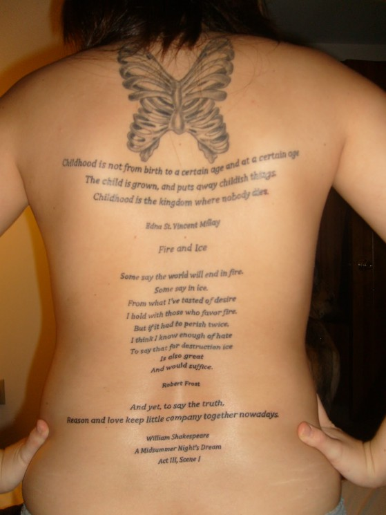 Small Phases Of Moon Tattoos On Upper Back