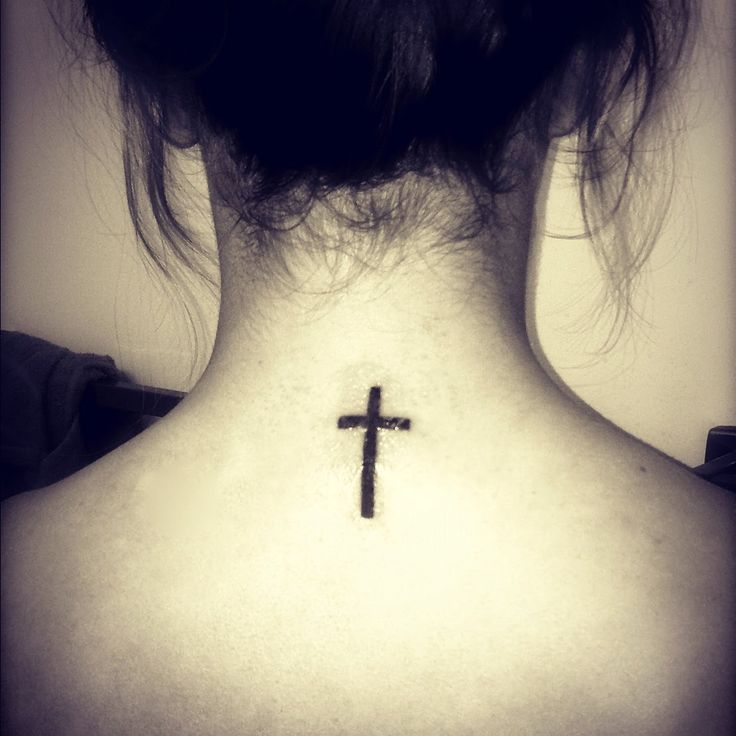 Small Size 3D Cross Effect Tattoo On Forearm