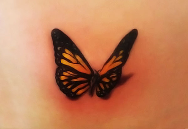 Small Size Butterfly Tattoo