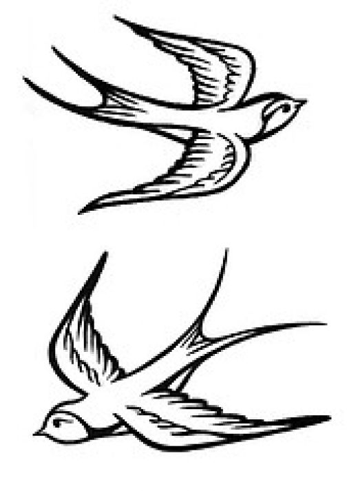 Small Swallow Wrist Tattoo