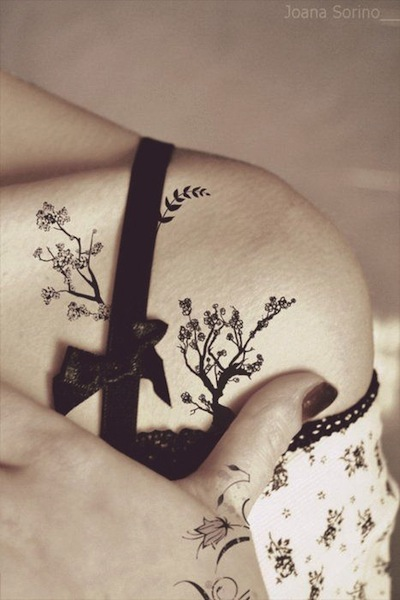 Small Tree Tattoo For Shoulder