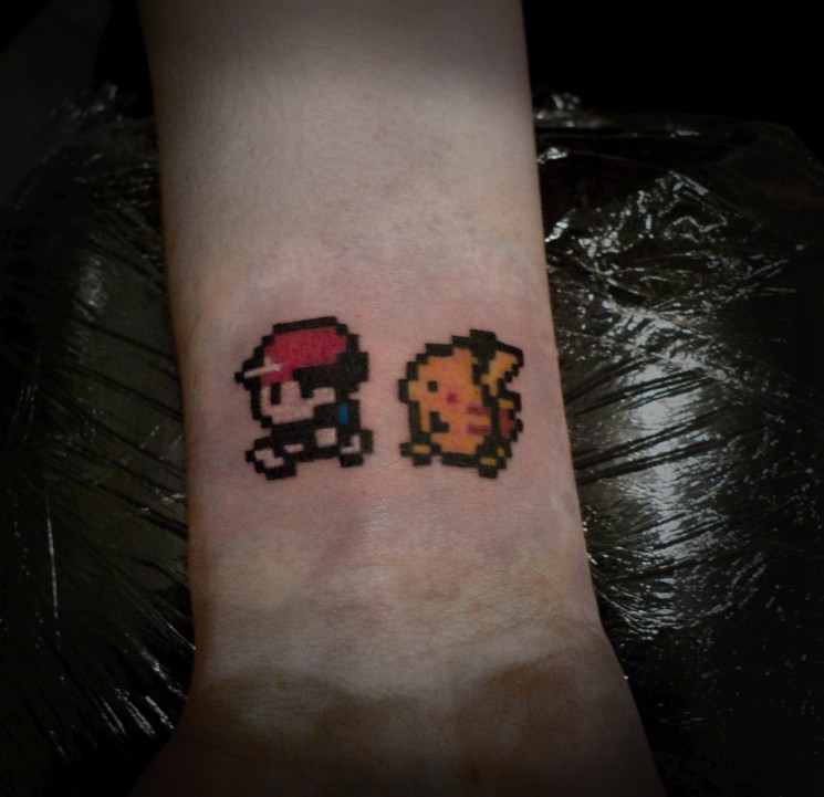 Small Video Game Tattoo