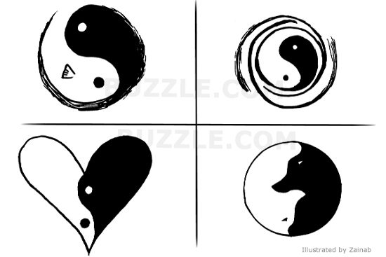 small yin yang tattoo on upper back for girls in 2017. Black Bedroom Furniture Sets. Home Design Ideas