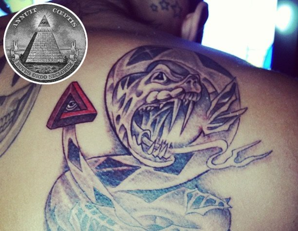 Snake And The Triangle Eye Tattoos