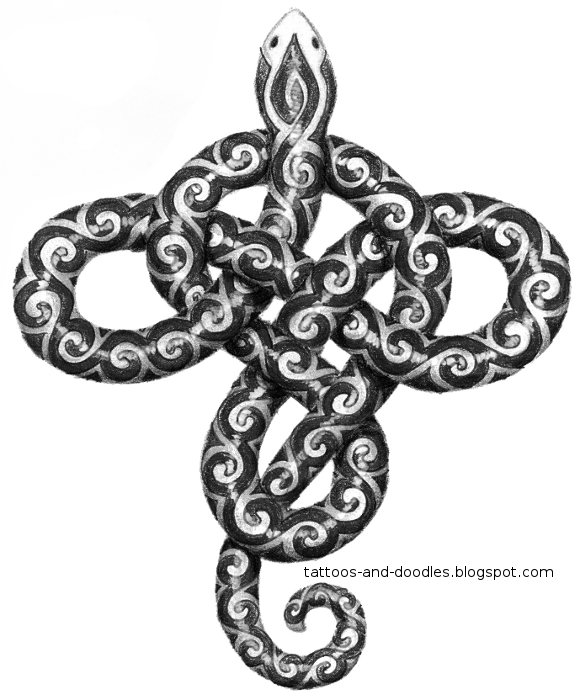 Snake Knot Tattoo Design