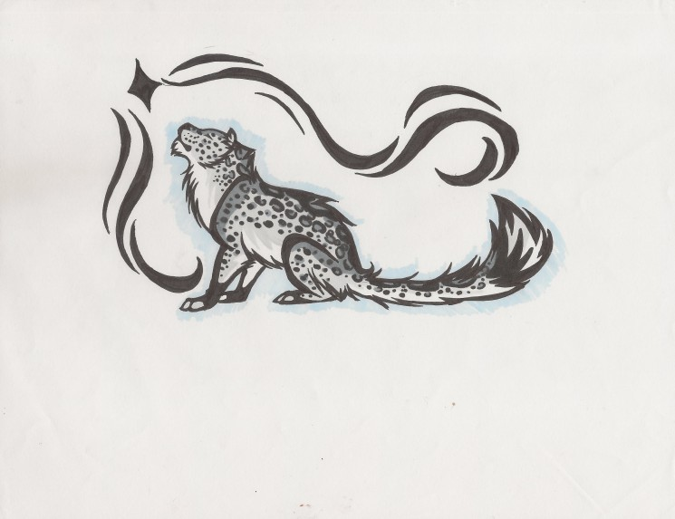 Snow Leopard Tattoo Image