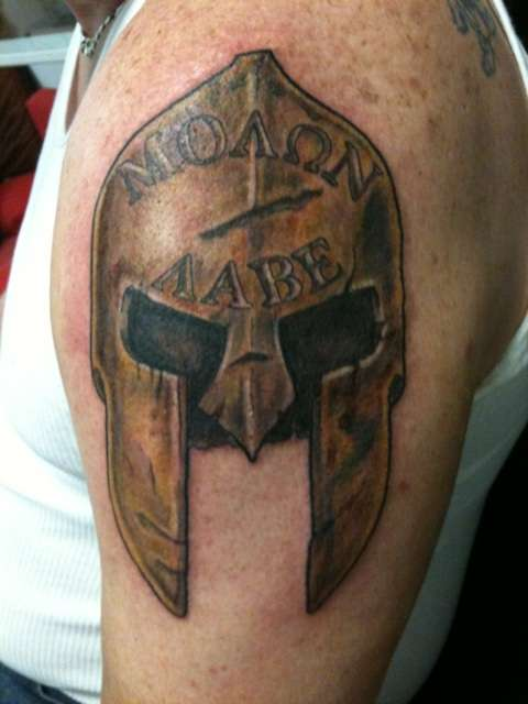 Spartan Helmets Tattoo Designs