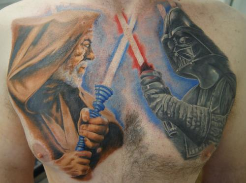 Stars Wars Chest Tattoos For Girls