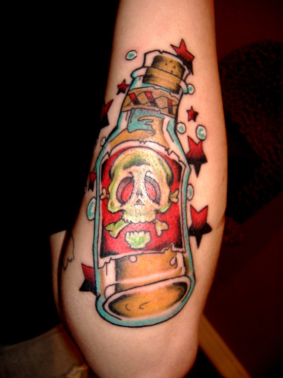 Stay Home – Bottle Tattoo