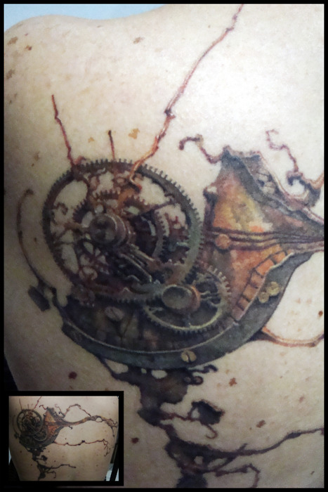 Steampunk Clock Tattoo Concept