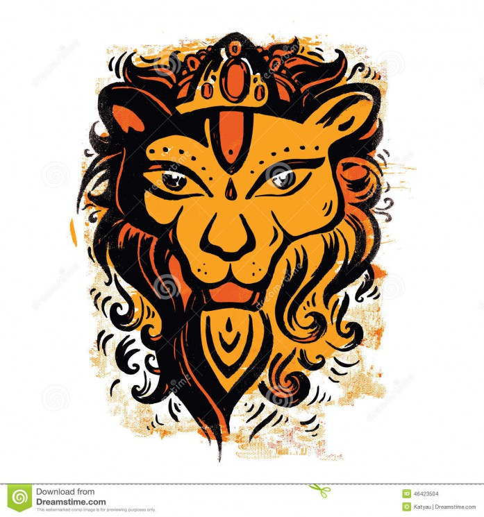 Stock Vector Lion Tribal Tattoo Style