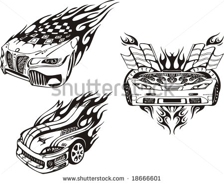 stock vector racing car tattoo designs photo 2 2017 real photo pictures images and sketches. Black Bedroom Furniture Sets. Home Design Ideas