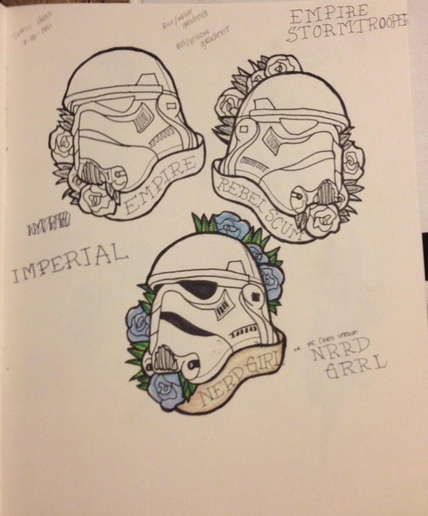 Stormtrooper Helmet Tattoo Designs