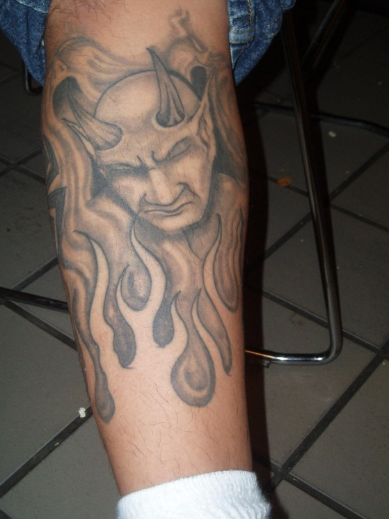 Stunning Devil Tattoo Design