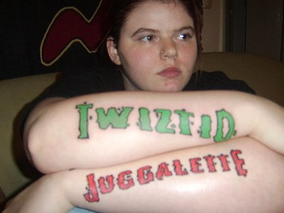 Stylish Juggalo Tattoo On Arm