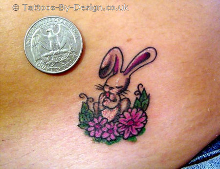 Stylish Tribal Rabbit Tattoo Design