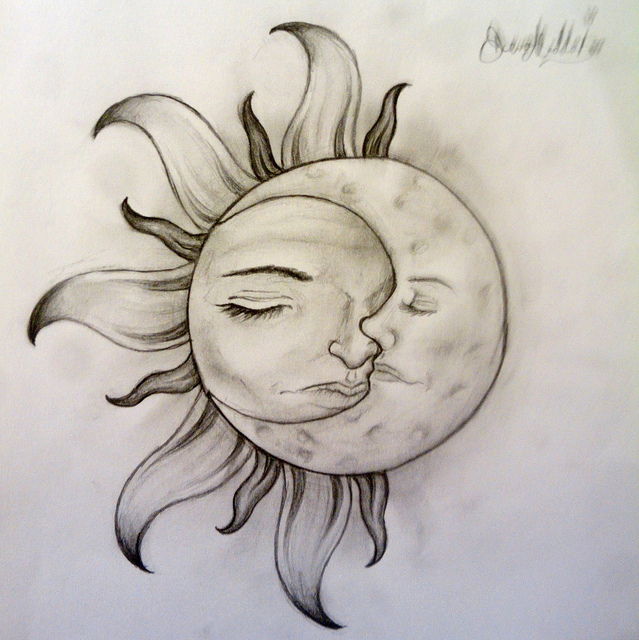 Sun And Moon Tattoo Print In 2017 Real Photo Pictures Images And