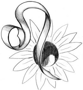 Sunflower And Zodiac Sign Tattoos