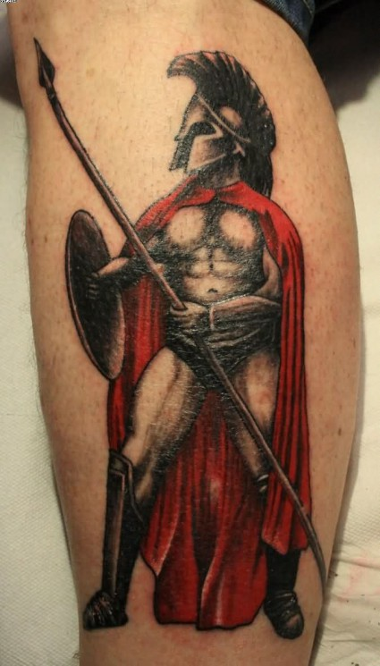 Superb Spartan Helmet Tattoo
