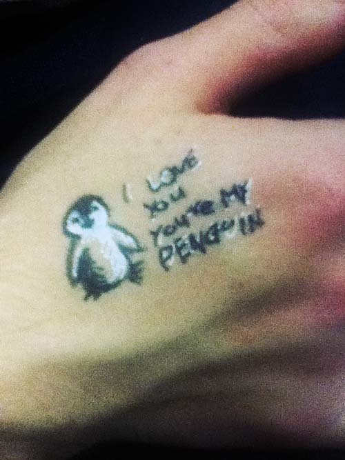Sweet Penguin Tattoo
