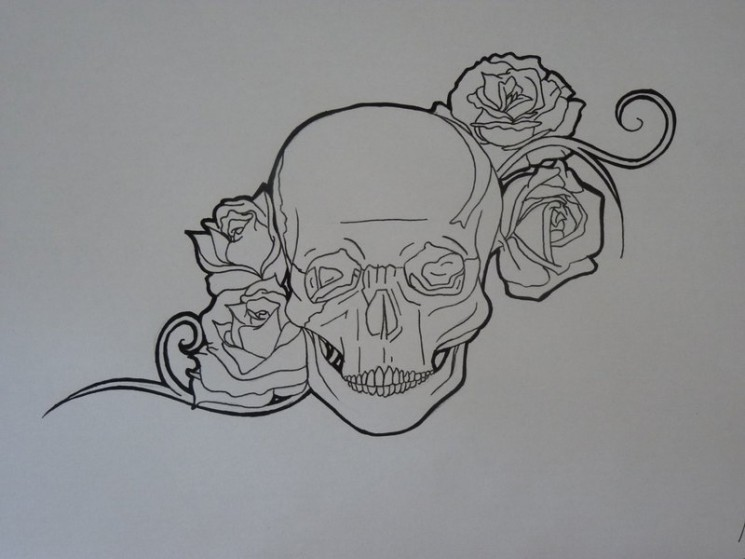 Sword Of The Roses Tattoo Sketch
