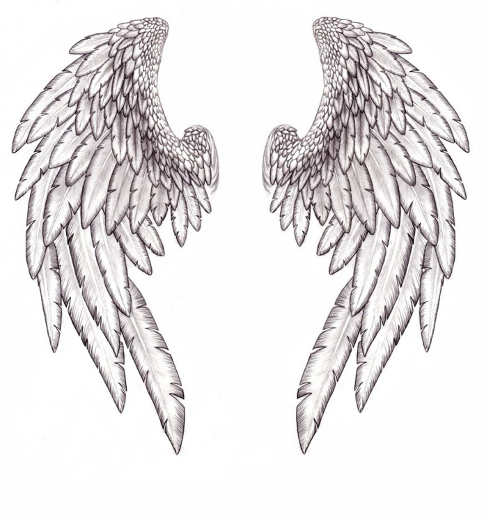 Sword With Wings Tattoo Print