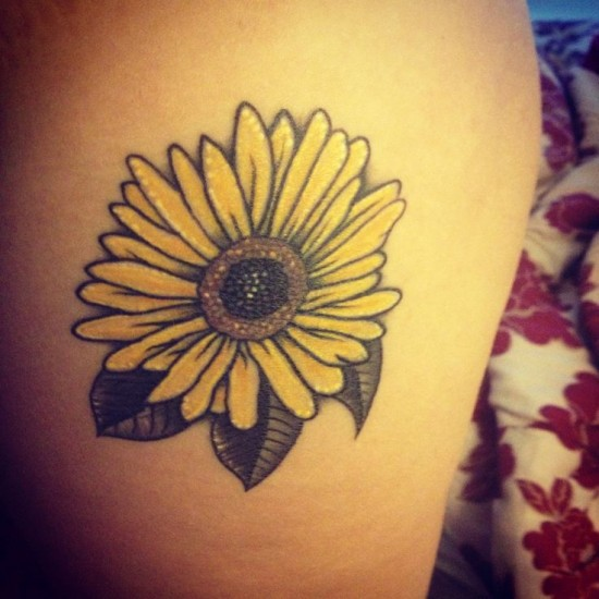 Taino Sun Flowers And Stars Tattoo Designs