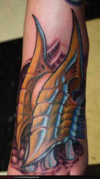 Terrific Tribal Tattoo For Leg