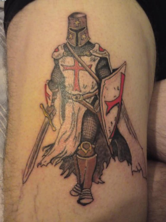 Terrific Warrior Tattoo For Shoulder