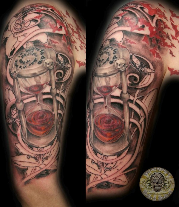 grandfather clock face tattoo. all images to the best grandfather clock tattoo face