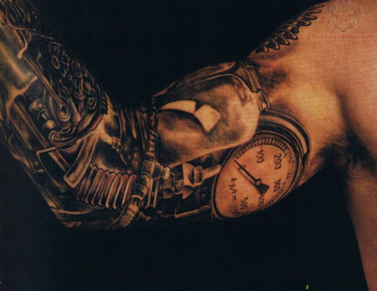 The Best Grandfather Clock Tattoo On Arm