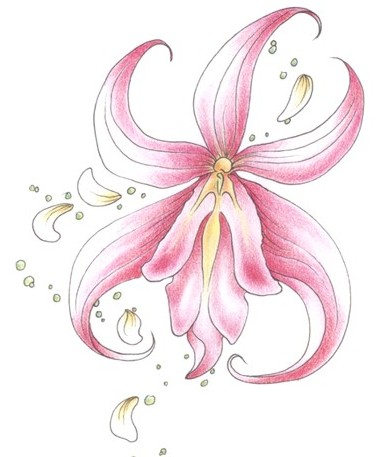 The Best Pink Orchid Tattoo On Shoulder