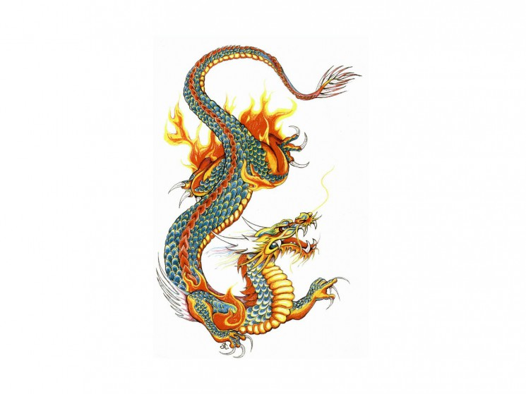 The Dragon And The Sword Tattoo Designs