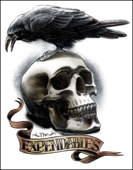 The Expendables Crow Skull Tattoo Photo