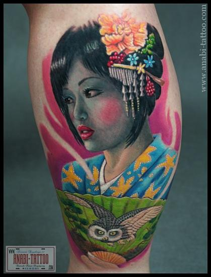 The Geisha Tattoo Designs For Girls On Sleeve