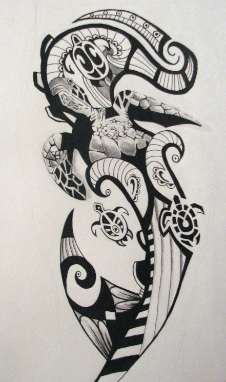 The Latest Penguin Tribal Tattoo Design