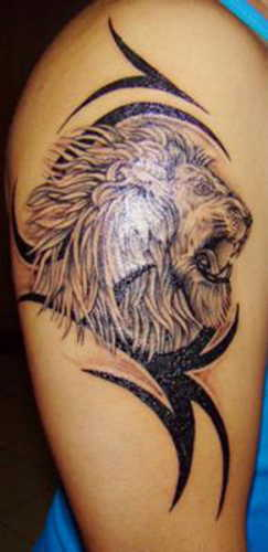 The Latest Tribal And Lion Tattoo Style For Men