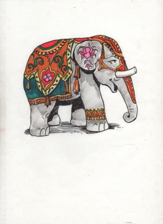 The One With Elephant Tattoo Design