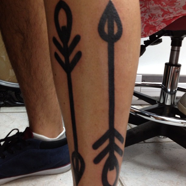 The Perfect Arrow Tattoo On Leg