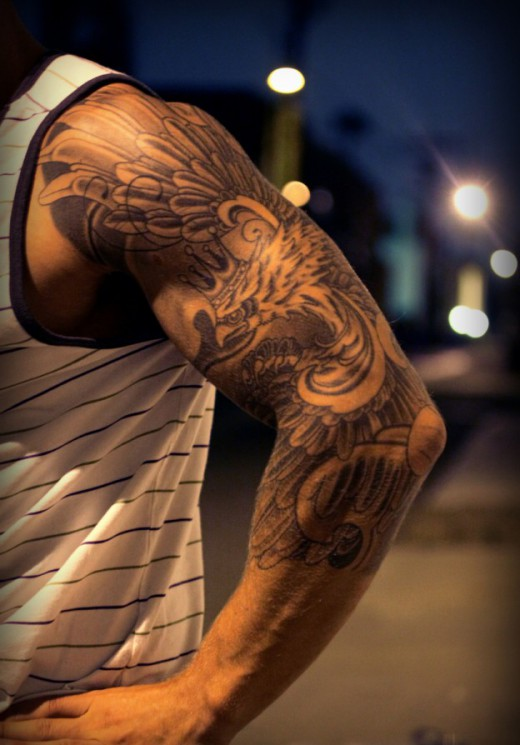 Tiger And Owl – Wildlife Tattoos On Back