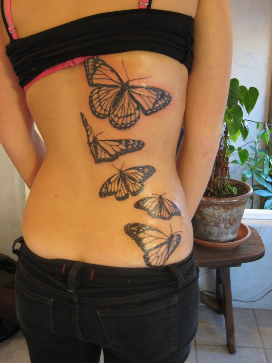 Tiger Butterfly Tattoo Design